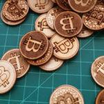 wooden bitcoins